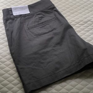 LOFT gray shorts. NWT